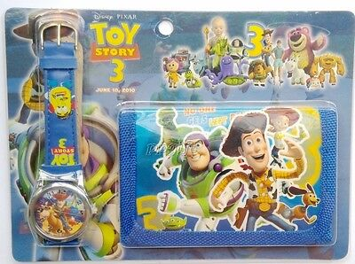 New 1 Set Toy Story Faux Leather Quartz Watch and Wallet Sets Children Party