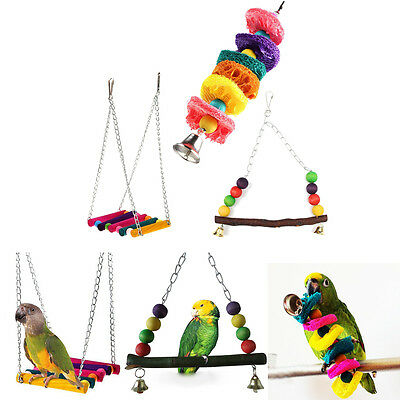 Cage Hammock Swing Hanging Chew Toys For Bird Parrot Parakeet Budgie Cockatiel