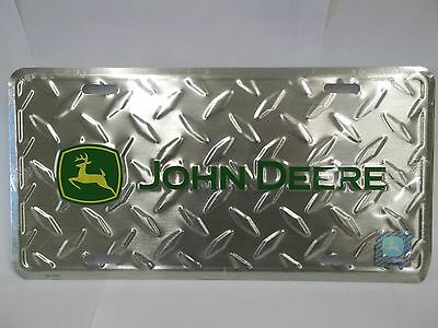 John Deere Diamond Plate Green Vanity Plate For Cars Or Trucks Great Gift! 2defb18f798