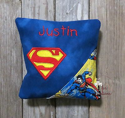 Boy's Tooth Fairy Pillow Personalized Superman Emblem Design