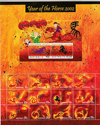 2002 Christmas Island, Lunar Year of the Horse Sheetlet, SG 492/505