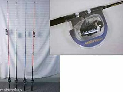 Fishing Rod & Reel light action four colours 1.8m great beginners upgrade rod