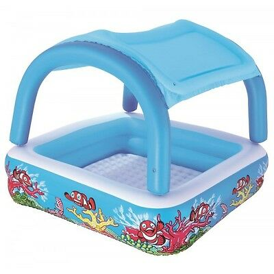 Canopy Play Swimming Pool with Sunshade for Children & Kids