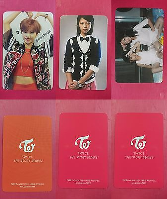 LOT OF 3 TWICE JEONGYEON Official Photocard Full Set 1st Album The Story Begins