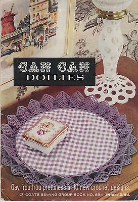 Coats Can-Can Doilies vintage 1963 thread crochet pattern book