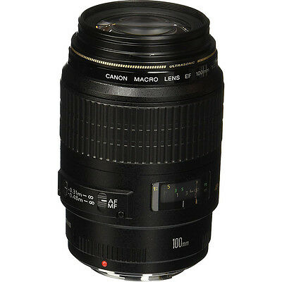 Canon EF 100mm F/2.8 Macro Lens, With Canon 1-Year USA Warranty