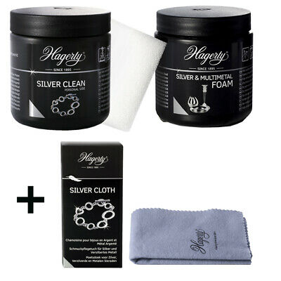Hagerty Silver Polish Set2 Clean + Foam + Cloth Cheap Package Price