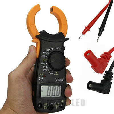 Digital Electronic AC DC Voltage Clamp Meter Multimeter Current Volt Tester USA