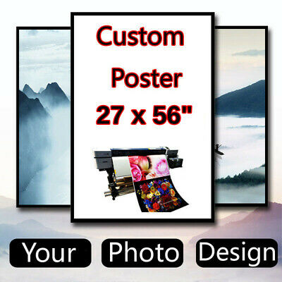 Custom Poster Design 27 x 56 inch Printing Thin Silk Fabric (Not with Frame)