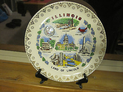 ILLINOIS LAND of LINCOLN COLLECTOR'S PLATE 7 INCHES