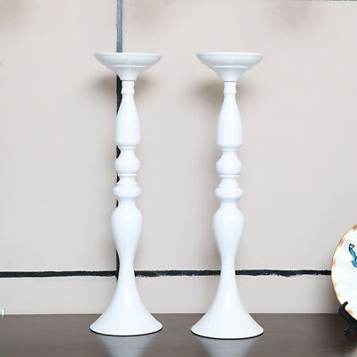 12 X  White Wedding Taper Votive Decoration Candle Flower holder Stand 49.5cm Ta