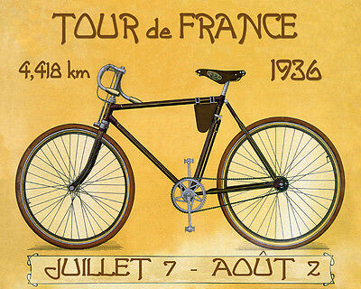 1936 Bicycle Race Tour de France Cycle Sport French 16X20 Vintage Poster FREE SH