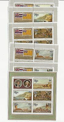 Niue, British, Postage Stamp, #214-218a Mint NH Sheets, 1978
