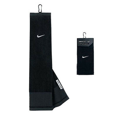 Nike Face/Club Tri-Fold Towel - Black/Silver