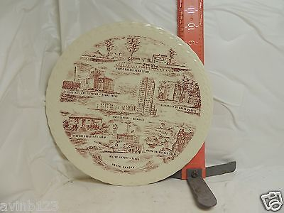Vernon Kilns North Dakota State Plate - Sights Of N.d. Circa 1940 - No Damage