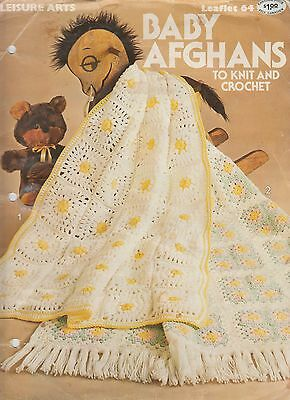 Leisure Arts Baby Afghans to Knit and Crochet pattern book 1976