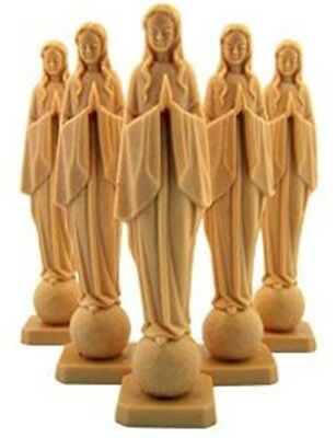 "Lot of 5 Our Lady of the Universe 4"" Catholic Moulded Plastic Statue Figurine"