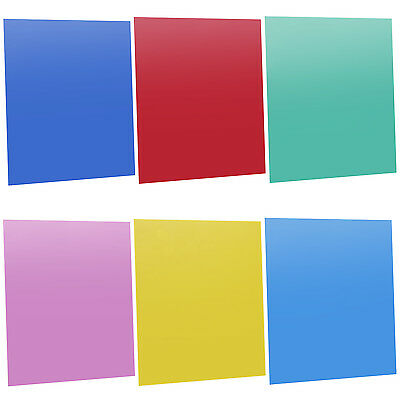 "Neewer 7""x8"" Transparent Color Correction Gel Filter Set Pack of 6 Gel Sheet"