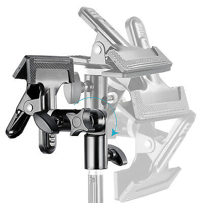 """Neewer Studio Metal Clamp Holder w/ 5/8"""" Light Stand Attachment f Reflector"""