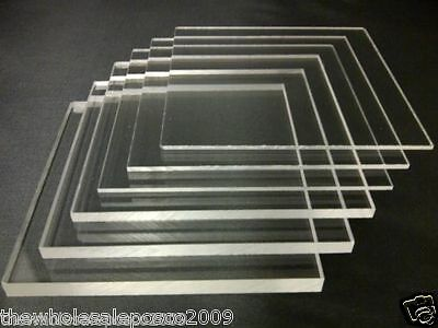 210 x 148mm A5 Clear Acrylic Perspex Sheet Plastic Panels 2mm to 10mm Thick
