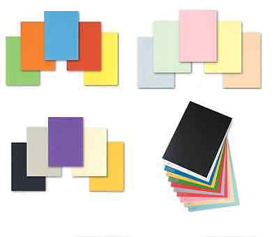 50 sheets 160gsm A4 coloured card making craft printer Pick from 23 colours