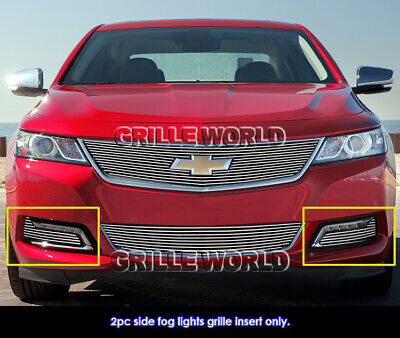 Fits 2014-2016 Chevy Impala Fog Light Cover Billet Grille Insert