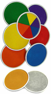 Large Round 15cm Colour Ink pads Rubber Stamps Finger Painting Craft Cardmaking