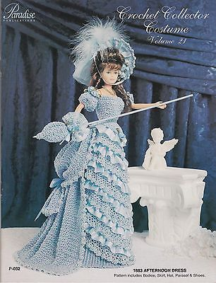 Paradise Publications 1883 Afternoon Dress fashion doll crochet pattern