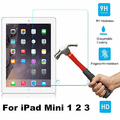 100% Real Premium 9H Tempered Glass Screen Protector Film For iPad Mini 1 2 3