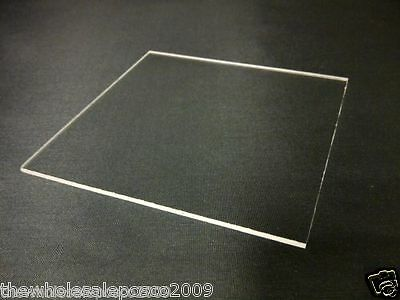 210mm x 148mm Clear acrylic Perspex plastic sheet 1mm, 1.5mm, 2mm 3mm, 4mm & 5mm