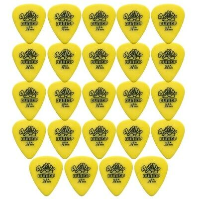 24 X Jim Dunlop Tortex Standard 0.73mm Yellow Guitar Picks Bulk Bag