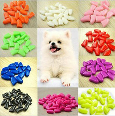 20PCS Soft Rubber Nail Caps For Puppy Dog Cat Paw Pet Claws 6 Sizes