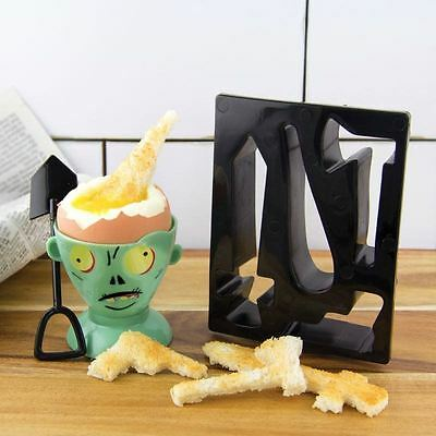 Zombie Eggpocalypse Egg Cup Spoon Toast Cutter Breakfast Gift Set