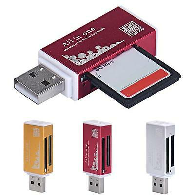 1PC Colorful USB 2.0 All in 1 Multi Memory Card Readerfor Micro SD SDHC New