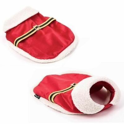 Christmas Santa Clause Dog Pet Puppy Costume Outfit Coat Fancy Dress Clothes