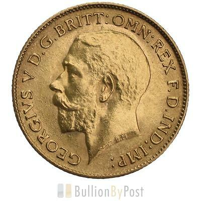 1913 Gold Half Sovereign - King George V - London