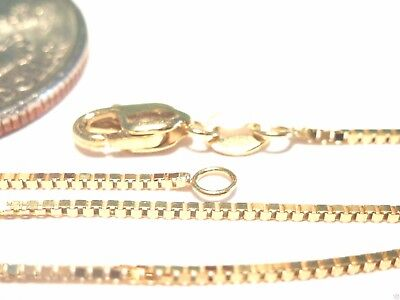10kt Solid Gold 20 inch .8MM BOX CHAIN-LOBSTER LOCK..Gift Box...100% Guaranteed!