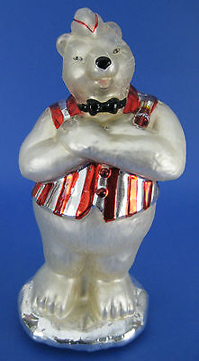 Coca Cola Polar Bear Soda Jerk Mercury Glass Table Top Figurine