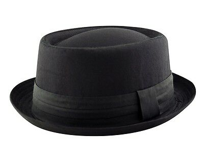 HEISENBERG - BREAKING BAD - PORK PIE Trilby Porkpie Cotton Hat Cap Black