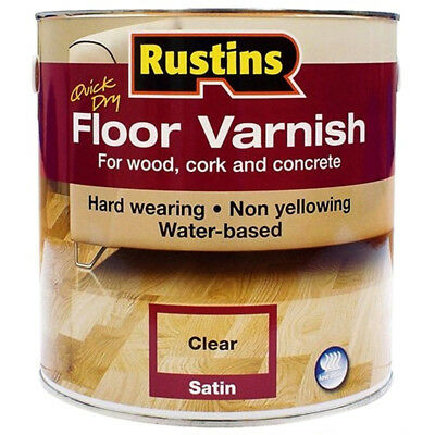 Rustins Acrylic Quick Drying Floor Coating Clear Satin - 1 Litre
