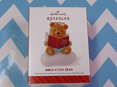 2014 Hallmark Ornament Bible Study Bear   NIB