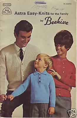 Astra Easy-Knits for the Family by Beehive vintage clothing patterns (A)