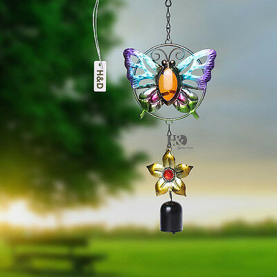 Butterfly Copper Bell Mobile Wind Chimes Home Yard Garden Outdoor Living Decor