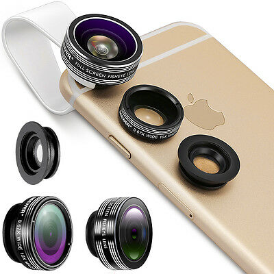 3 In 1 Lens Kit for Android Tablets, Ipad, Laptops, Iphone 4 4S 5 5s 6 6+