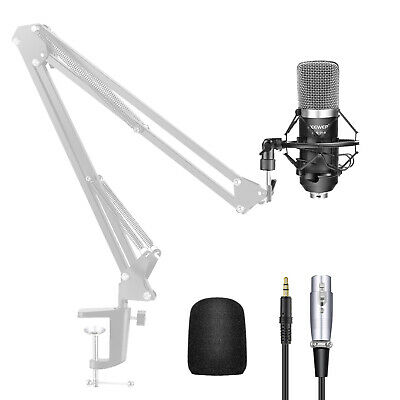NW-700 Black Condenser Microphone +Shock Mount+Power Cable+Anti-wind Foam Cap