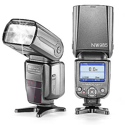 Neewer NW-985N E-TTL 4-Color TFT *High-Speed Sync* Slave Flash for Nikon Cameras