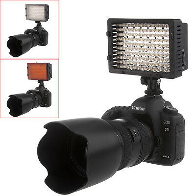 CN-160 LED Video Light Lamp + Colored Filters for Camera DV Camcorder Lighting
