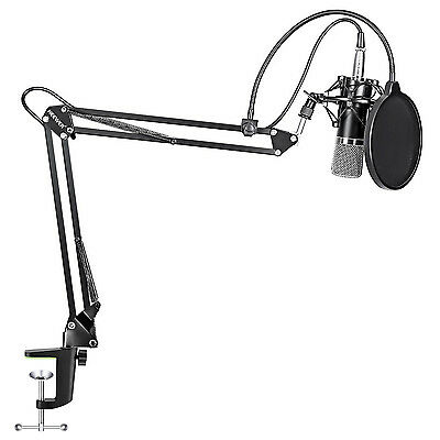 NW-700 Microphone + Microphone Scissor Arm Stand + Shock Mount + Mask Shield