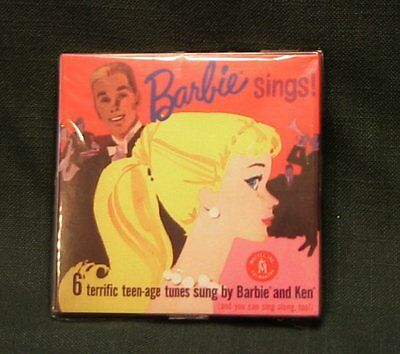 LOOK! BARBIE SINGS on CD ~ Vintage 1961 Reproduction CONTAINS 6 TEENAGE TUNES