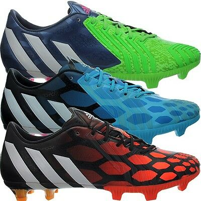 Adidas Predator Instinct FG green blue red Men's Rugby Football Boots Shoes New